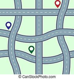Seamless road pattern