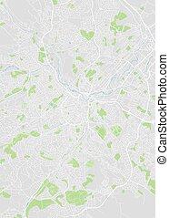 City map Sheffield, color detailed plan, vector illustration