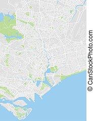City map Singapore, color detailed plan, vector illustration