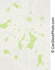 City map Sofia, color detailed plan, vector illustration -...