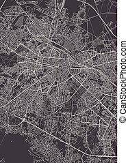 City map Sofia, monochrome detailed plan, vector...