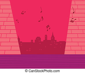 City music background