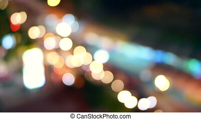 City night background blur traffic