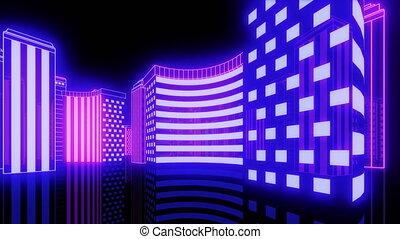 Glow City Night Looped Video