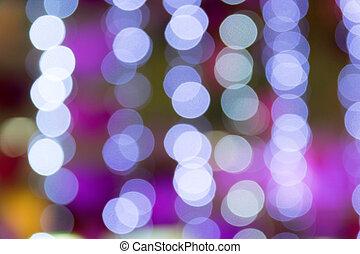 City night light blur bokeh