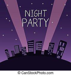 City night party