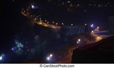 City night scene Panorama motion