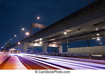 light trails of cars
