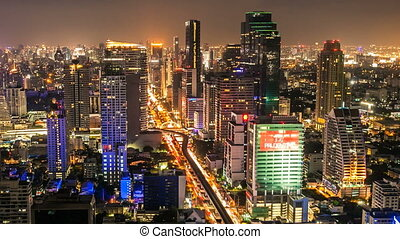 CITY NIGHT SKYLINE TIME LAPSE
