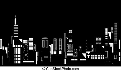 City night - Illustration of city lights at night