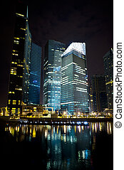 City night view - A generic city night view at water ...