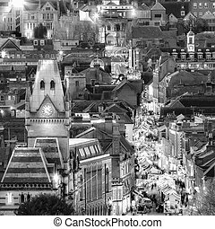 City night view at Christmas