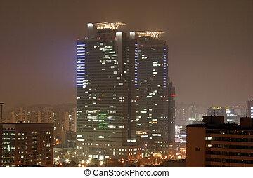 City Night View - Night view of City of anyang, Korea