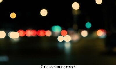 City Night With Blurred Lights