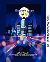 City Nightscape Poster