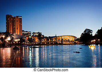 City of Adelaide - The River Torrens in Adelaide, Australia