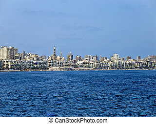 City of Alexandria, Egypt, view from the sea