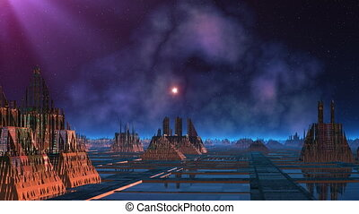 City of aliens and UFO