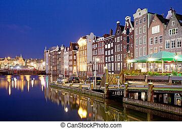 City of Amsterdam at Night