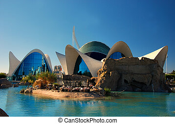 City of Arts and Sciences, Valencia - View of L'Oceanografic...