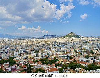 City of Athens. View from the Acropolis viewpoint. Attica,...