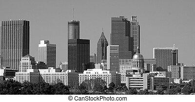 City of Atlanta Georiga - City of Atlanta Georgia in black...