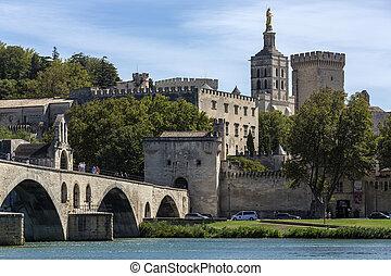 City of Avignon - France - The city of Avignon in the...