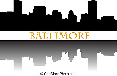 City of Baltimore high-rise buildings skyline