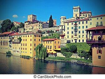 city of Bassano City in Italy