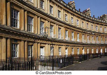 City of Bath - England - The Circus Crescent in the City of ...