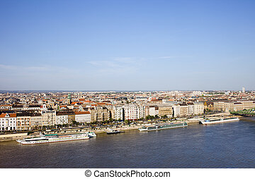 City of Budapest and Danube River in Hungary