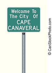 City of Cape Canaveral road sign - Vector illustration of ...