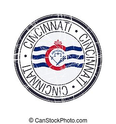 City of Cincinnati, Ohio vector stamp