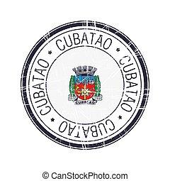 City of Cubatao, Brazil vector stamp