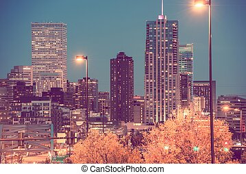 City of Denver at Night