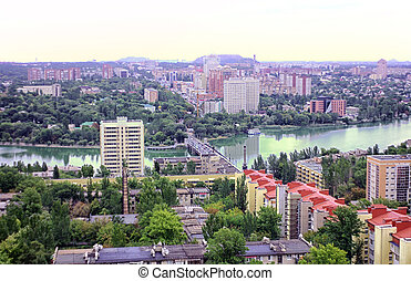 city of Donetsk, Ukraine - The beautiful city of Donetsk,...