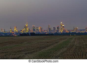 city of Frankfurt by night
