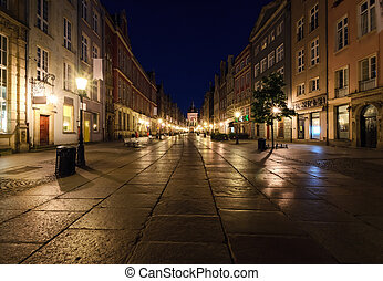 City of Gdansk in the early morning,