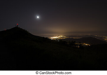 city of Genoa by night
