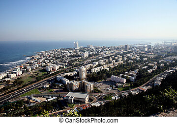 City of Haifa in Israel - Overview of the city of Haifa in...