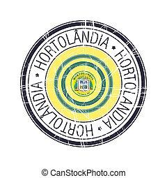 City of Hortolandia, Brazil vector stamp