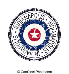City of Indianapolis, Indiana vector stamp - City of...
