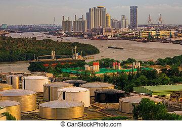 City of Industry Oil storage tanks