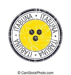 City of Itabuna, Brazil vector stamp