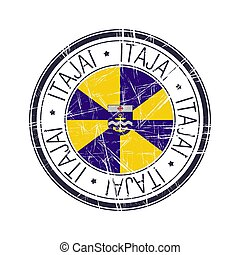 City of Itajai, Brazil vector stamp