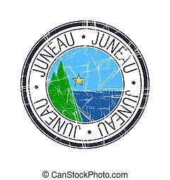 City of Juneau, Alaska vector stamp - City of Juneau, Alaska...