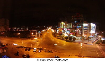 city of Kaliningrad machine Time Lapse Night