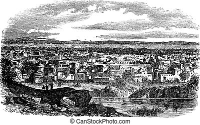 City of Kano, Nigeria vintage engraving