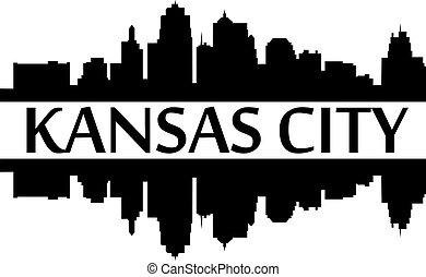 City of Kansas City high rise buildings skyline