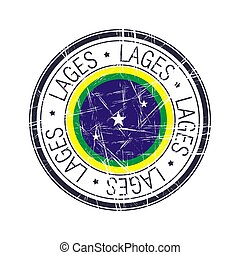 City of Lages, Brazil vector stamp